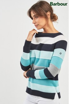 Barbour® Navy Blue Stripe Overseas Stripe Jumper