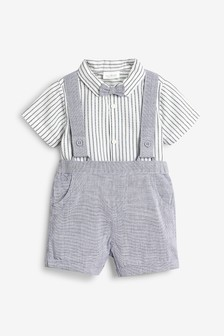 Shorts, Shirtbody And Bow Tie Three Piece Set (0mths-2yrs)