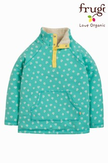 Frugi Organic Green Warm Fleece Lined Sweatshirt