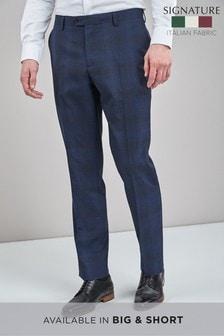 Signature標準剪裁方格圖案西裝:長褲