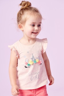 Unicorn Birthday Girl T-Shirt (3mths-7yrs)