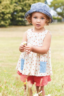 Apple Print Blouse And Shorts Set (3mths-7yrs)