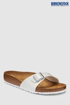 Birkenstock® Women's White Snake Madrid Sandal