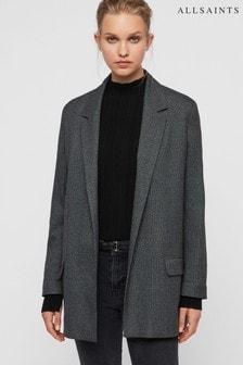 AllSaints Grey Check Anneka Blazer