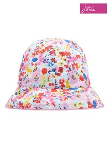כובע טמבל דו צדדי של Joules דגם Sunseeker בלבן