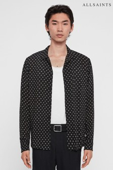 AllSaints Black Luck Out Print Shirt