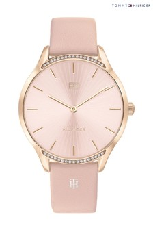 Tommy Hilfiger Watch With Pink Leather Strap