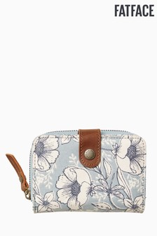 FatFace Green Dragonfly Floral Canvas Purse