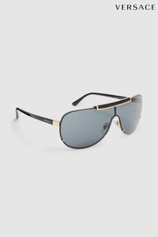 Versace Gold Visor Sunglasses