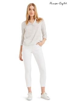 Phase Eight White Emerly Jean