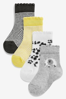 Animal Prints Socks Four Pack (Younger)