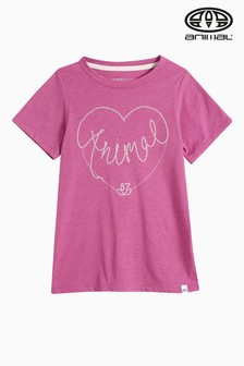 Animal Adore T-Shirt, Rosa meliert
