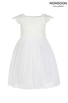 Monsoon Estella Baby-Kleid, elfenbein
