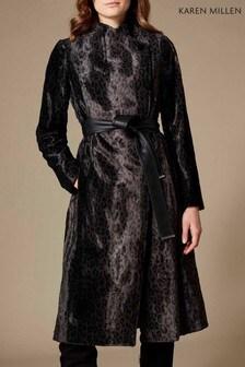 Karen Millen Leopard Print Pony Coat