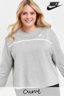 Nike Curve Grey Jersey Crew