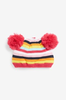 Knitted Pom Pom Hat (0mths-2yrs)