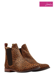 Joules Ocelot Westbourne Leather And Hair On Hide Boot