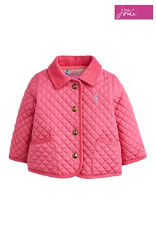 Joules Pink Mabel Quilted Jacket