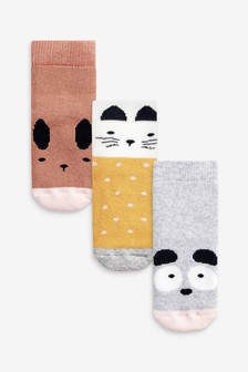 3 Pack Cosy Character Socks (Younger)