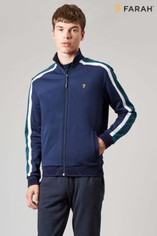 Farah Blue Sport Farne Long Sleeve Zip Jacket
