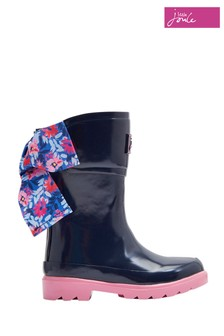Joules Navy Bow Back Welly