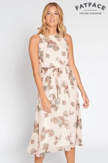 FatFace Soft Coral Alexis Paisley Dress
