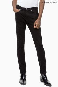 Črne ozke kavbojke Calvin Klein Jeans