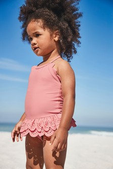Scallop Frill Swimsuit (3mths-7yrs)