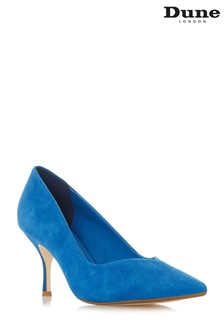 3291c135a37 Dune London Wide Fit Andersonn Blue Suede Heel Court