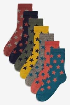 Star Socks Seven Pack (Older)