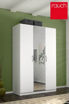 Cameron White Triple Hinged Wardrobe by Rauch