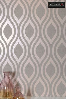 Arthouse Pink Luxe Ogee Geo Wallpaper