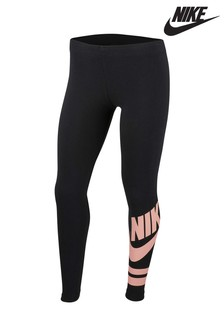Nike Black/Pink Favourite Leggings
