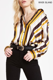 River Island Stripe Button Down Shirt