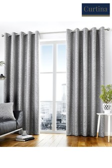 Curtina Africa Zebra Jacquard Lined Eyelet Curtains