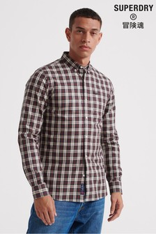 Superdry Black Check Long Sleeve Shirt