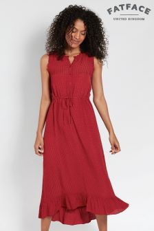 FatFace Washed Red/Black Kiki Dress