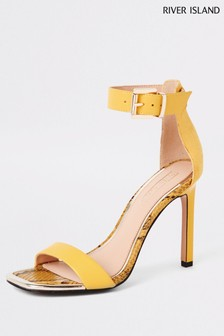 River Island Yellow Barely There Sandal
