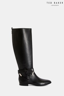 Ted Baker Black Bow High Boots