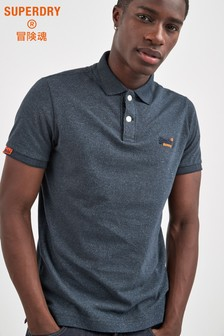 Superdry Navy Jersey Poloshirt