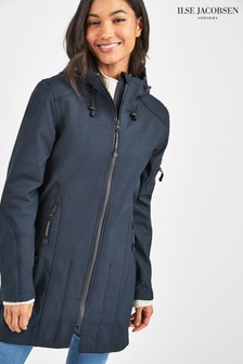 Ilse Jacobsen Navy Softshell Raincoat