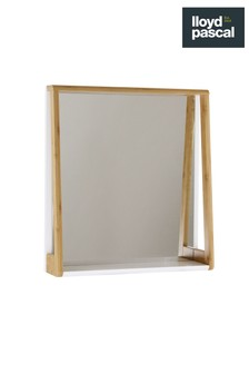 Lloyd Pascal Bamboo Mirror With Shelf