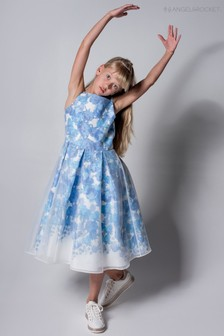Angel & Rocket Royal Blue Floral Overlay Dress