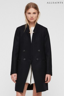 All Saints Black Adrie Over Coat