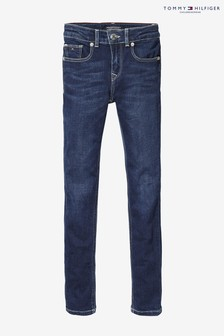Niebieskie spodnie dżinsowe rurki Tommy Hilfiger Nora