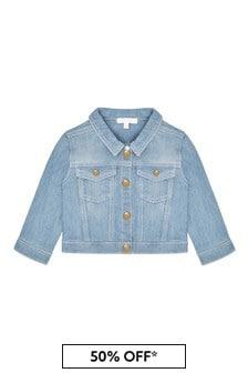 Chloe Kids Girls Blue Denim Jacket