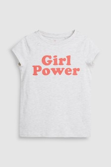 Girl Power Slogan T-Shirt (3-16yrs)