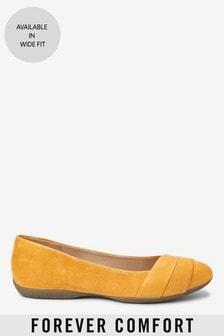 נעלי בלרינה בגזרה נעטפת מעור של Forever Comfort®