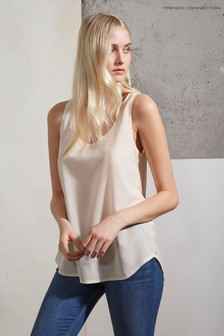 French Connection Cream Round Neck Vest