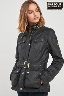 Barbour® International Black Oulton Wax Jacket